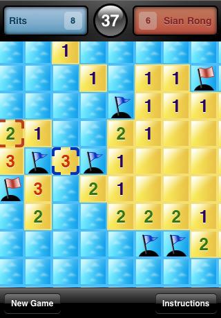 Campo minato gratis online per iPhone con Minesweeper Flags