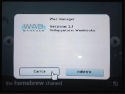 Aggiornamento al firmware Wii