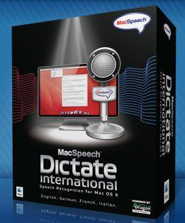 Programma riconoscimento vocale: MacSpeech Dictate International 1.5