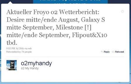 Android 2.2. su Milestone a settembre