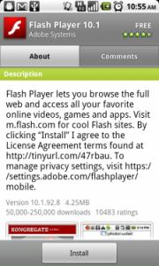 Flash 10.1 sul Nexus One: arriva!