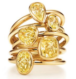 Diamante giallo raro Tiffany