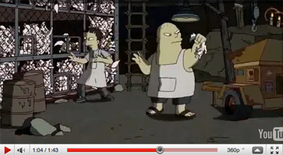 Sigla dei Simpson di Banksy