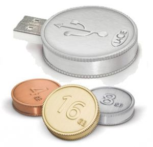 Moneta USB LaCie CurrenKey