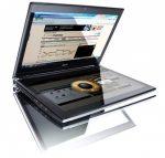 Icona il notebook con doppio schermo