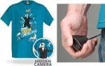 Electronic Spy Camera Shirt la maglietta con fotocamera