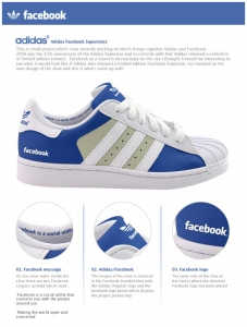 Scarpe Facebook o Twitter con lacci a Led
