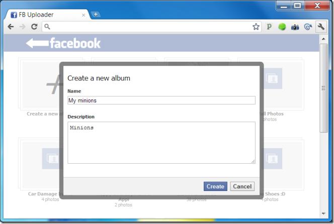 Caricare rapidamente album su Facebook – Photo Uploader Chrome