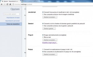 Bloccare finestre pop-up su Google Chrome