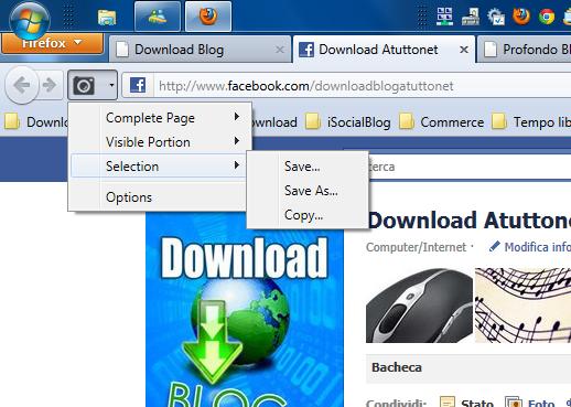 Cattura schermo per Firefox – Screenshoter