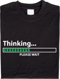 T-Shirt Thinking con barra al led scorrevole