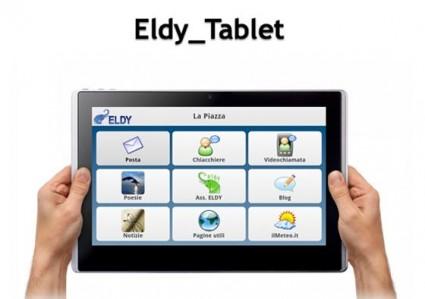 Eldy soccorre gli anziani anche sui Tablet