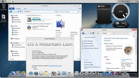 Trasformare Windows 7 e Windows 8 in Mac OSX Lion