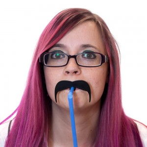 Cannucce con finti baffi Moustache Straws