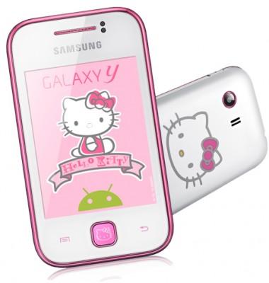 Galaxy Y nella versione Hello Kitty
