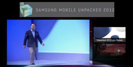 Presentazione dal vivo del nuovo Galaxy S3