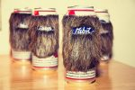 Beard Coozie la pelliccia per la birra