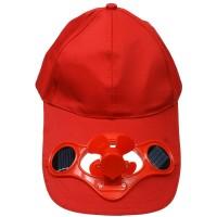 cappello con ventilatore e pannelli solari