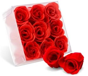 Saponette a forma di rose rosse profumate