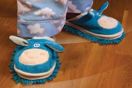 Pantofole per bimbi che puliscono il pavimento