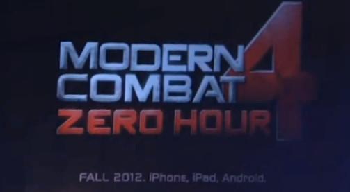 Modern Combat 4 trailer leaked
