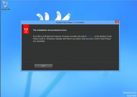Windows 8: bug Flash su IE