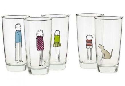 Adesivi per bicchieri Family Glassware
