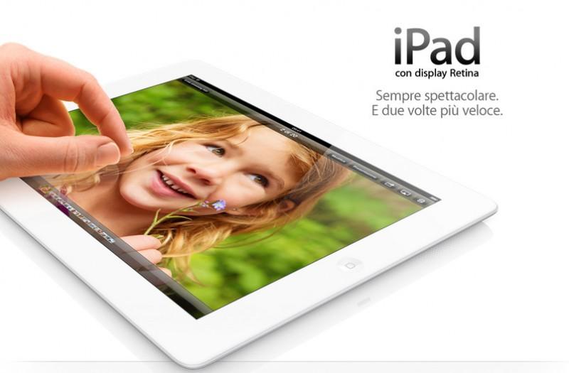 iPad 4 con display Retina, immagini e info sul nuovo tablet
