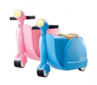 Skootcase, la valigia a forma di scooter