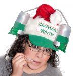 Cappello natalizio con portalattine e cannuccia