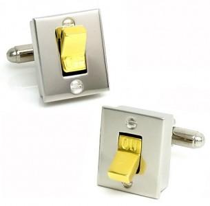 gemelli-interruttore Light-Switch-Cufflinks