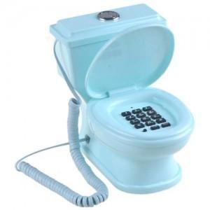 Telefono a forma di wc