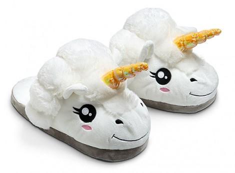 pantofole peluche unicorno