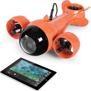 Videocamera-sommergibile che trasmette live sul tablet