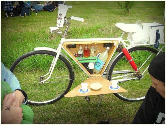 Bicycle Bar Cart, la bici con mini bar