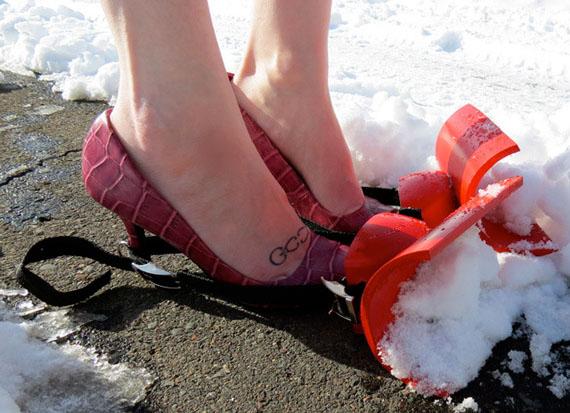 spazzaneve scarpe