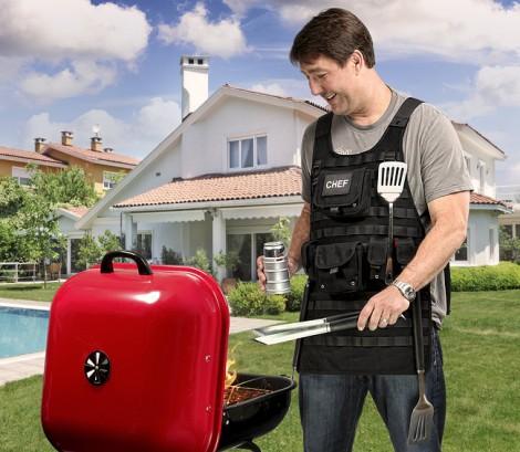 grembiule polizia barbecue