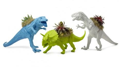 Vasi a forma di dinosauro