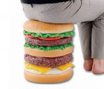 Sgabello a forma di hamburger