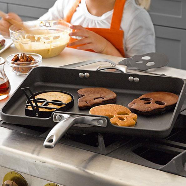 stampo teschio pancakes