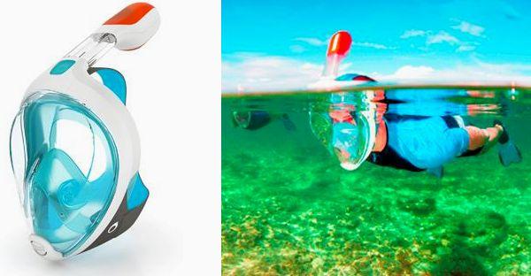 Maschera snorkeling antiappannamento EasyBreath