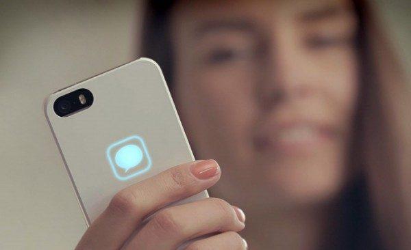 Custodia smartphone con icona luminosa Lunecase Eclipse