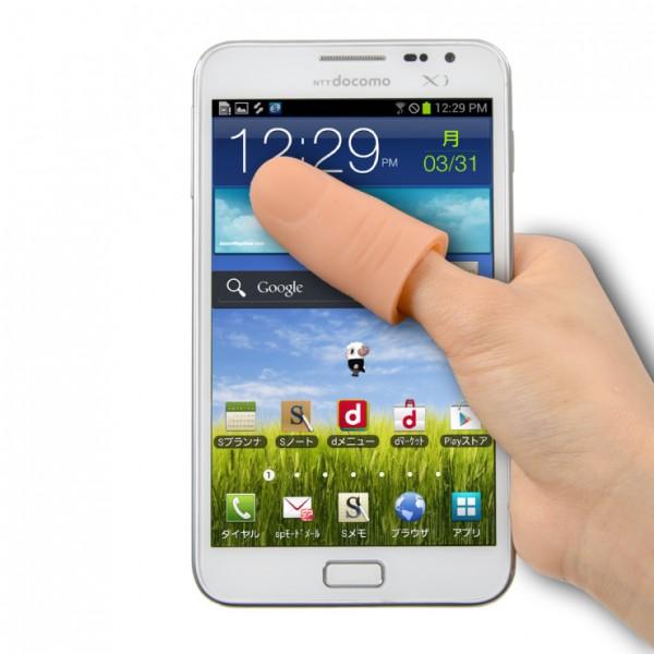 Protesi pollice per usare lo smartphone con una mano