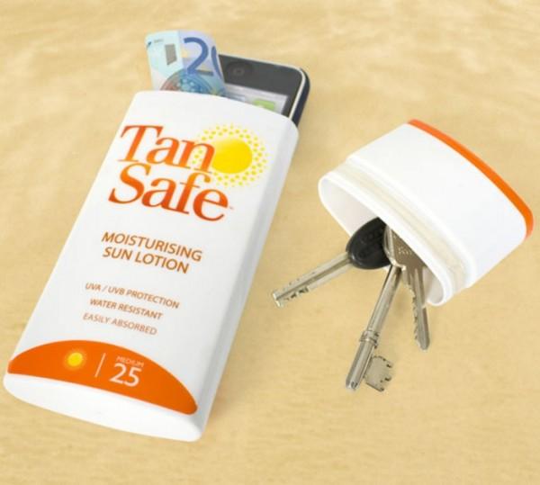 TanSafe, finto solare per nascondere denaro e cellulare
