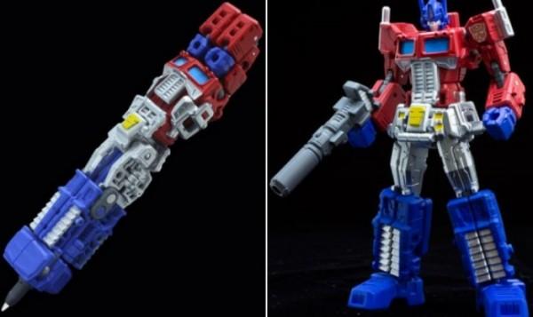 Robot che si trasforma in penna