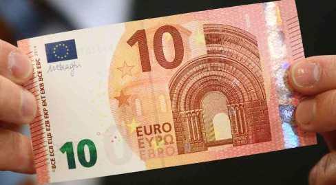 Nuova banconota 10 euro da oggi in circolazione