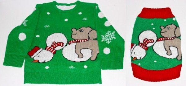 Maglione natalizio per cane e padrone