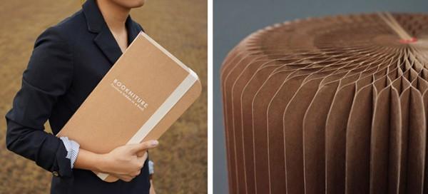 Libro che diventa tavolino Bookniture