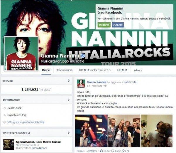 Nannini stecca a Sanremo e chiede scusa