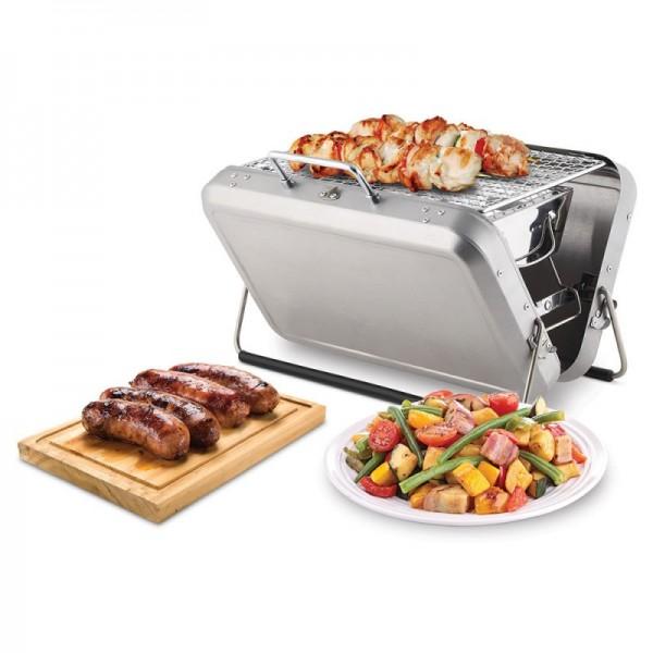 Barbecue in valigia comodo da trasportare